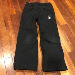 ⭐️Spyder Ski Snow Black Snow Pants Zippered Sides